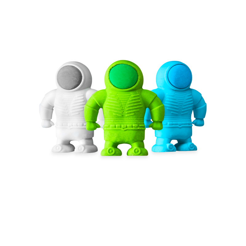 OOLY: Astronaut Erasers, Set of 3