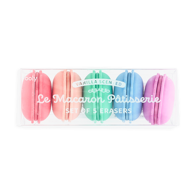 OOLY: Le Macaron Patisserie Scented Erasers, Set of 5