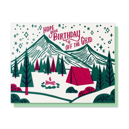 Paper Parasol Press: Off the Grid Birthday Card