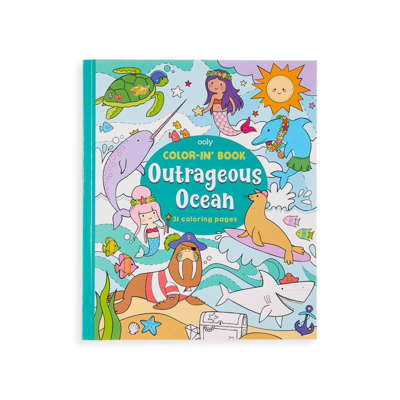 OOLY: Color-in' Book: Outrageous Ocean