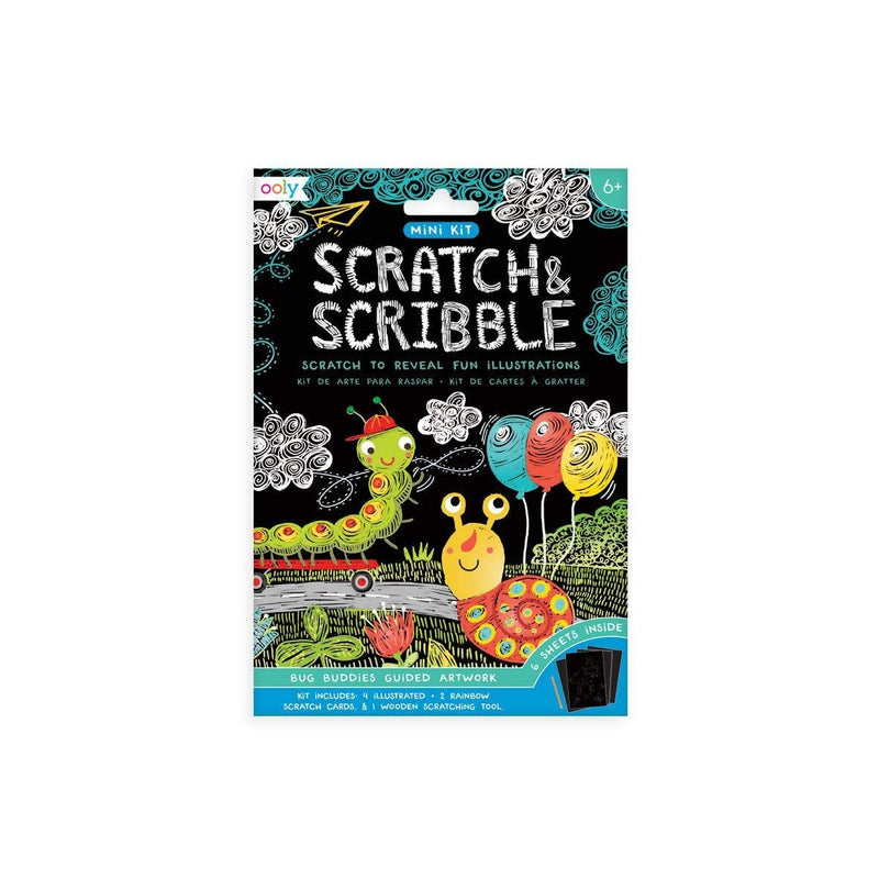 OOLY: Mini Scratch & Scribble Art Kit, Bug Buddies