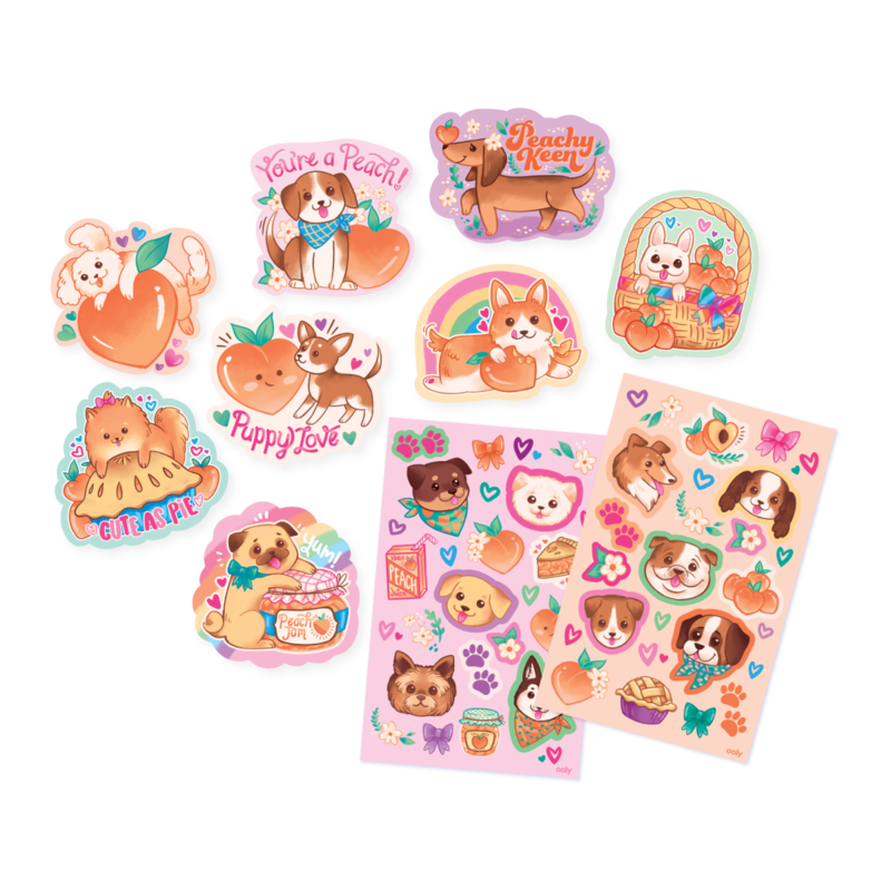 OOLY: Puppies and Peaches Scented Stickers