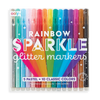OOLY: Rainbow Sparkle Glitter Markers, Set of 15