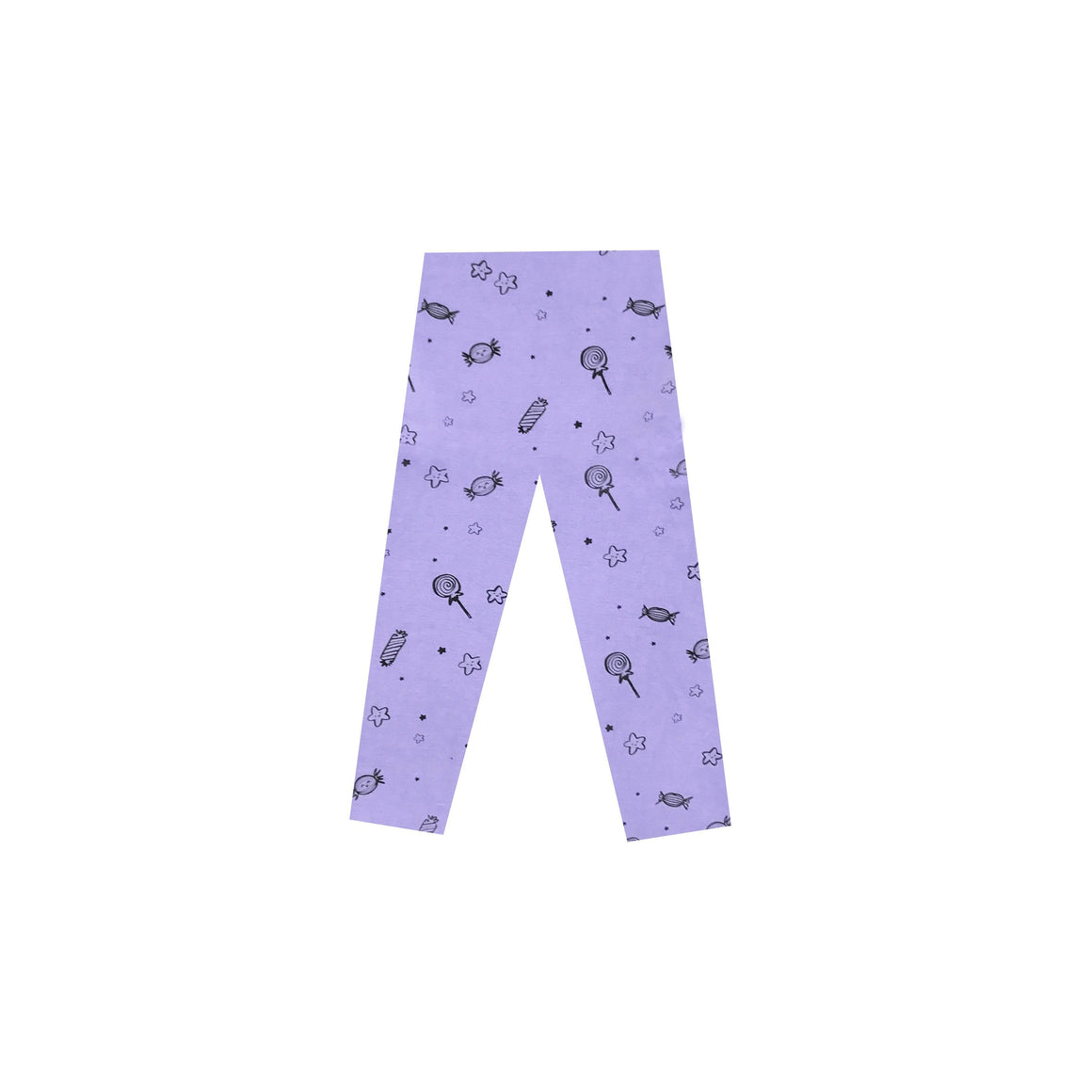 Sweets Print Leggings, Periwinkle