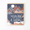 Hello Lucky: Mountains of Thanks Card