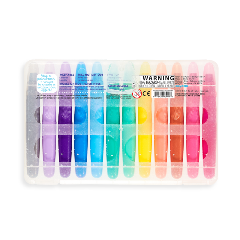 OOLY: Sparkle Watercolor Gel Crayons, Set of 12