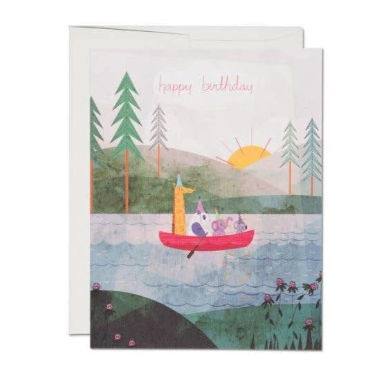 Red Cap Cards: Four Canoe
