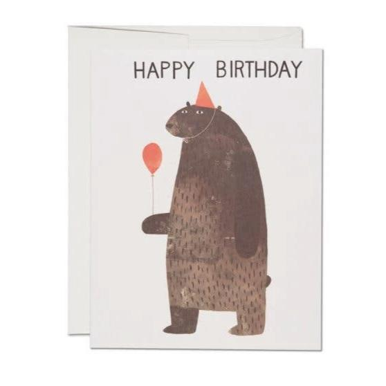 Red Cap Cards: Party Bear