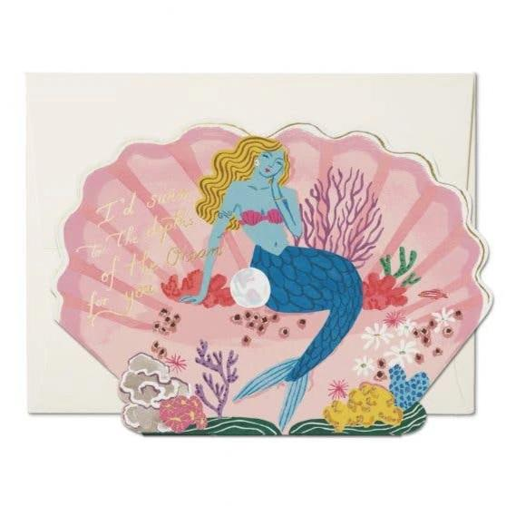 Red Cap Cards: Blue Mermaid