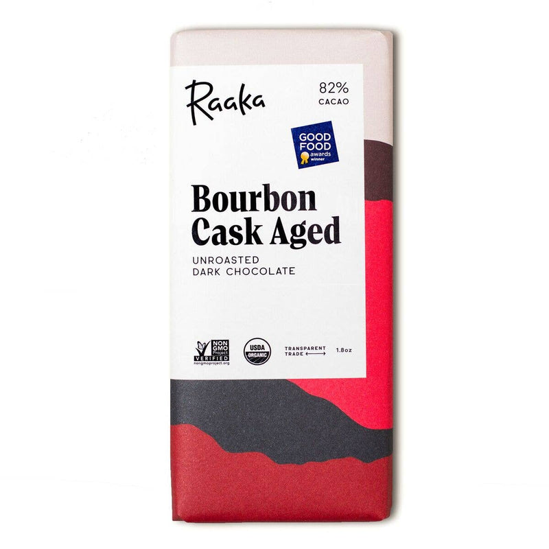 Raaka Chocolate: 82% Bourbon Cask Aged Chocolate Bar