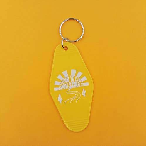 Holly Oddly: Drive it Like You Stole it Retro Motel Keychain