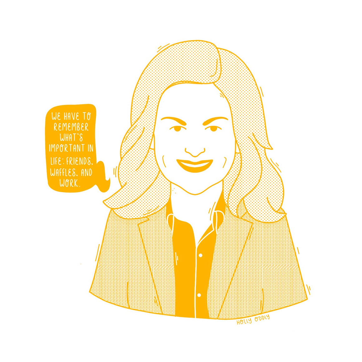 Holly Oddly: 4x4 Print Leslie Knope, Parks and Rec