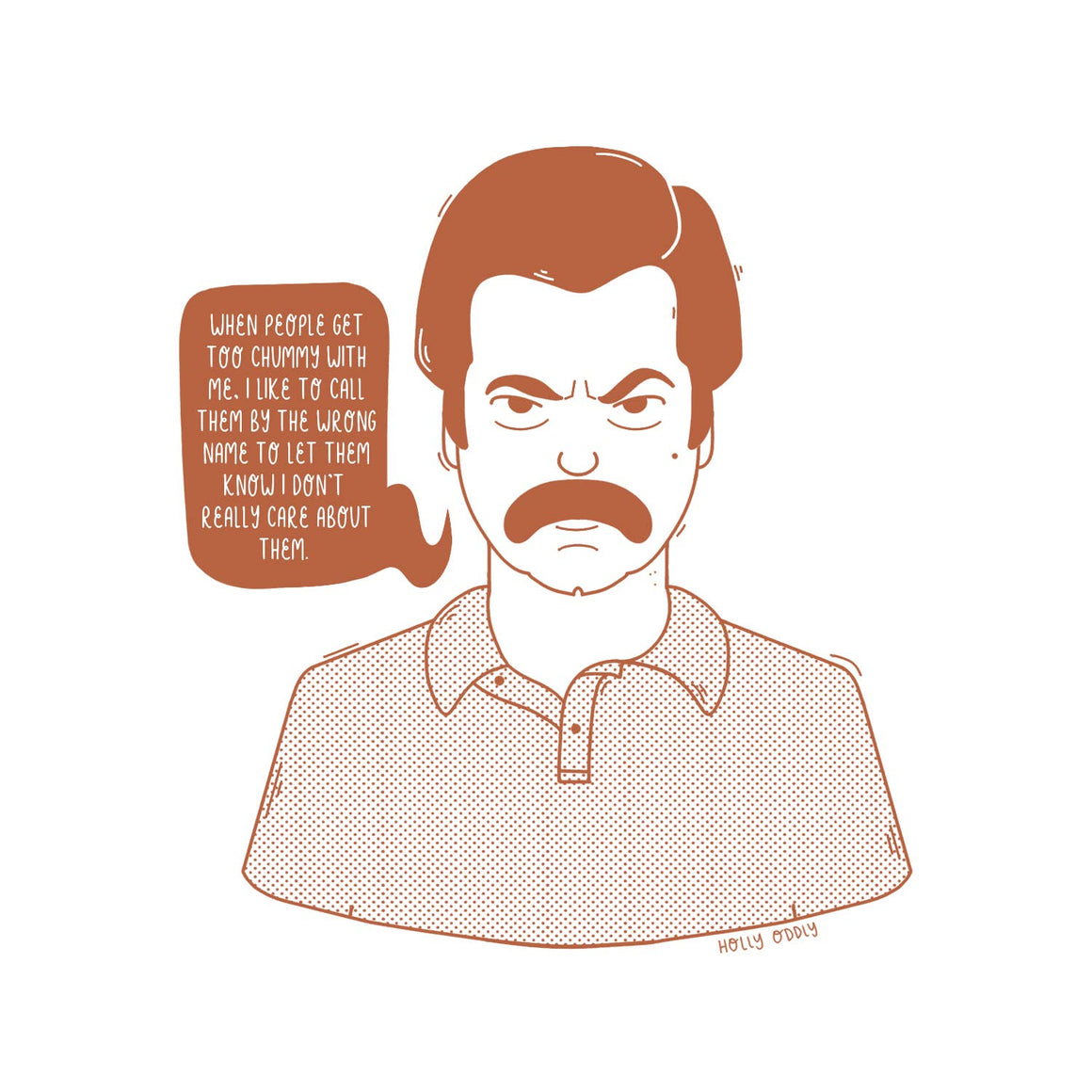 Holly Oddly: 4x4 Print, Ron Swanson, Parks and Rec