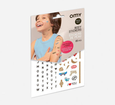 OMY: Letters Body Stickers