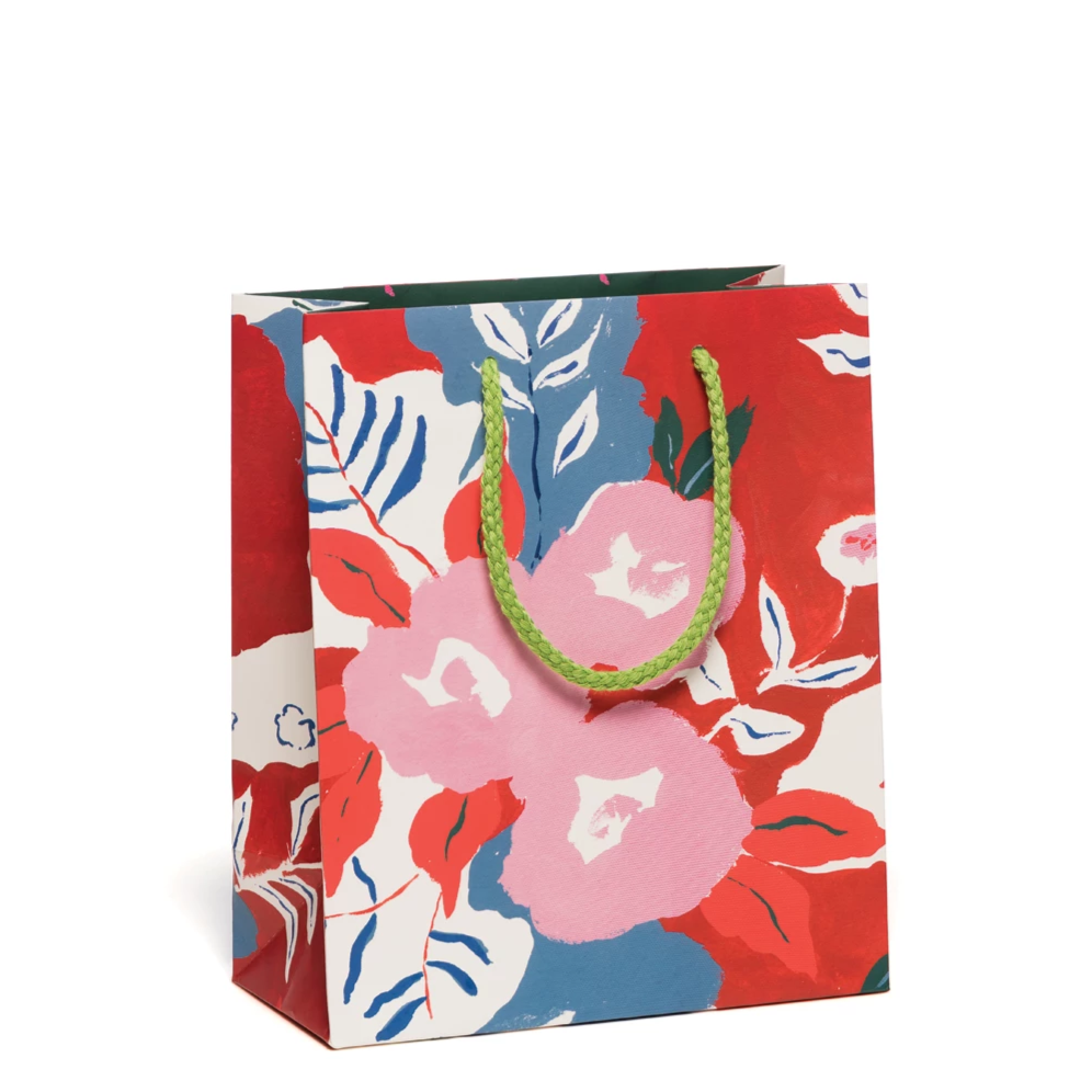 Red Cap Cards: Ruby Red Flower Bag