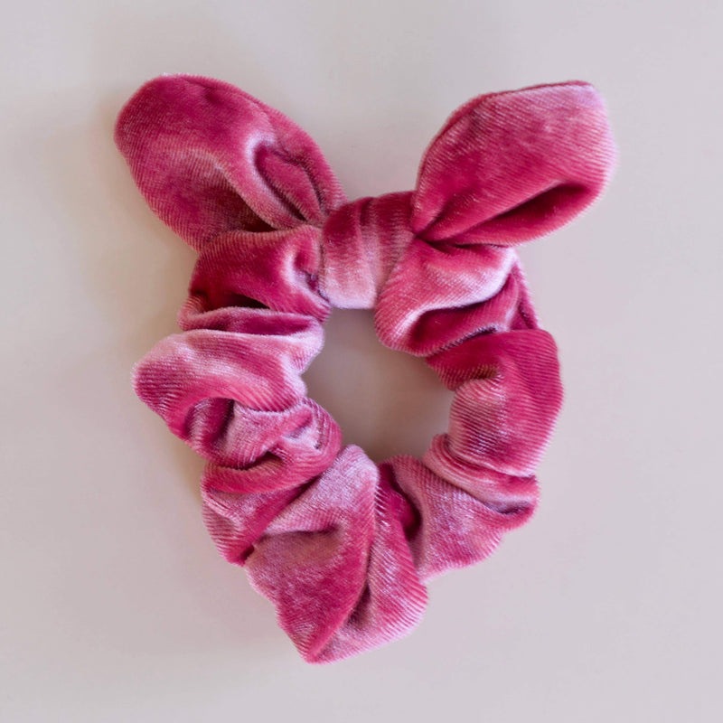 Katie Waltman Jewelry: Large Velvet Bow Scrunchie, Rose