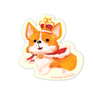The Little Red House: Royal Corgi Vinyl Sticker