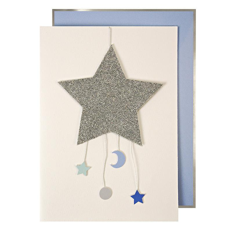 Meri Meri: Baby Boy Mobile Greetings Card