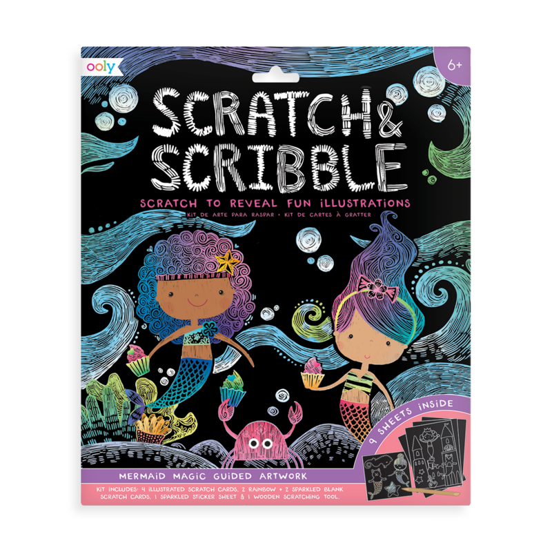 OOLY: Scratch & Scribble Art Kit: Mermaid Magic