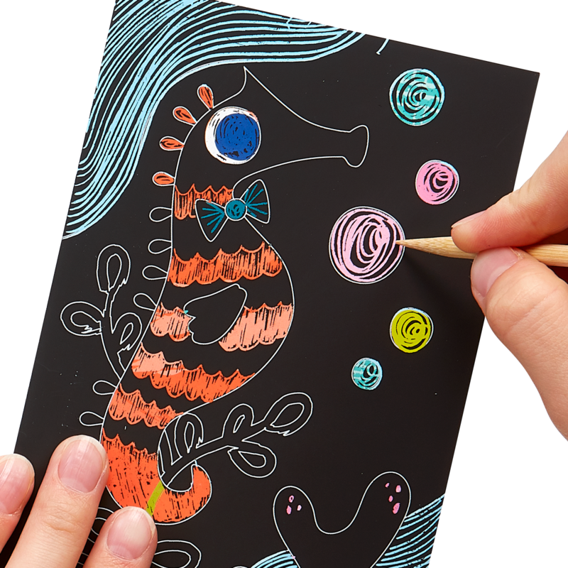 OOLY: Mini Scratch & Scribble Art Kit: Friendly Fish