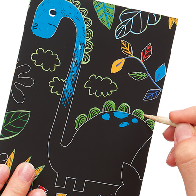 OOLY: Mini Scratch & Scribble Art Kit: Dino Days