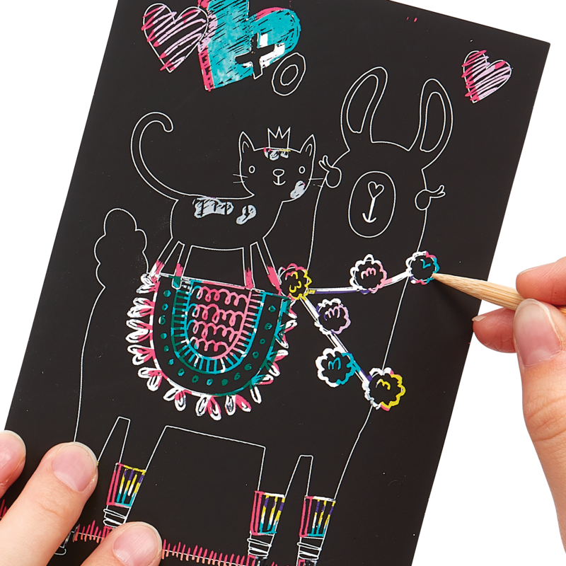 OOLY: Mini Scratch & Scribble Art Kit: Funtastic Friends