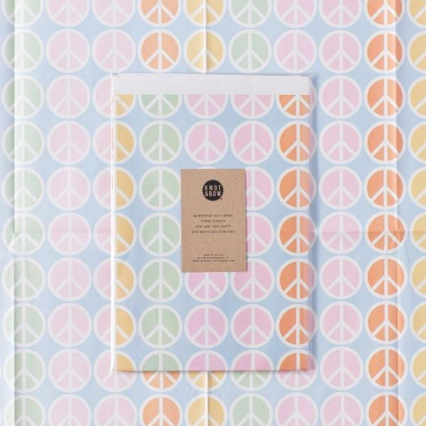 Knot and Bow: Peace Newsprint Gift Wrap