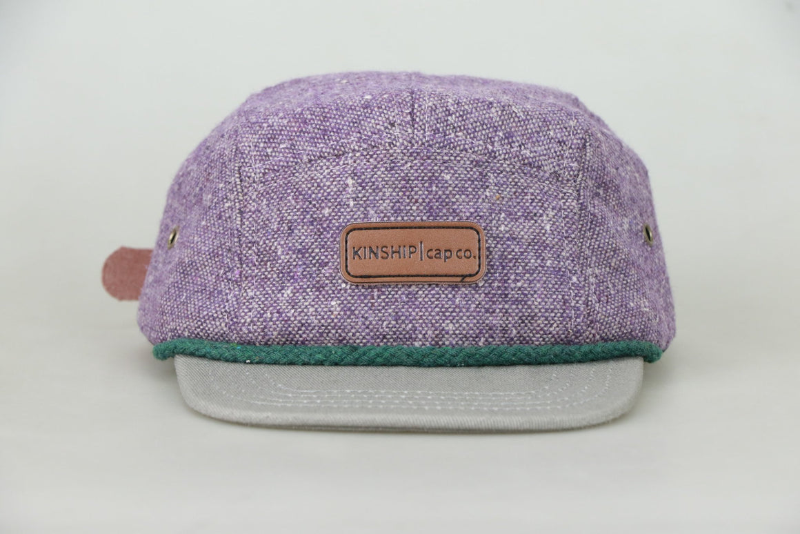 Kinship Cap Co: Two-Toned Lightweight Wool 5 Panel Cap