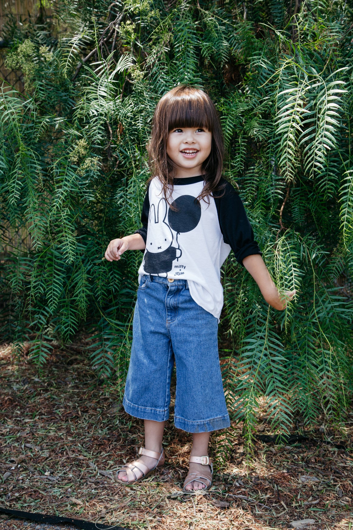Miffy x Kira Balloon Raglan T-shirt, Black and White