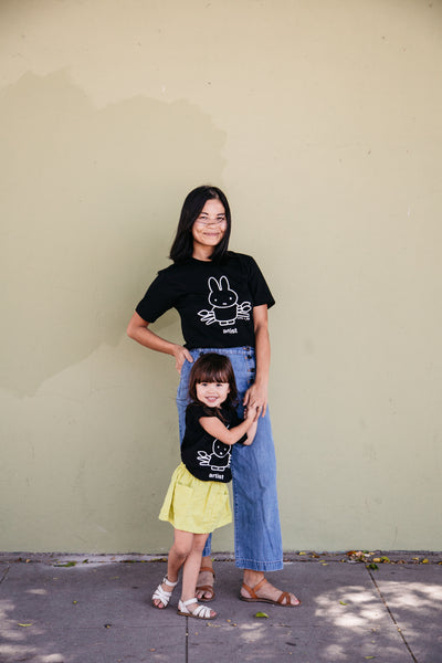 Miffy x Kira Artist T-shirt, Black