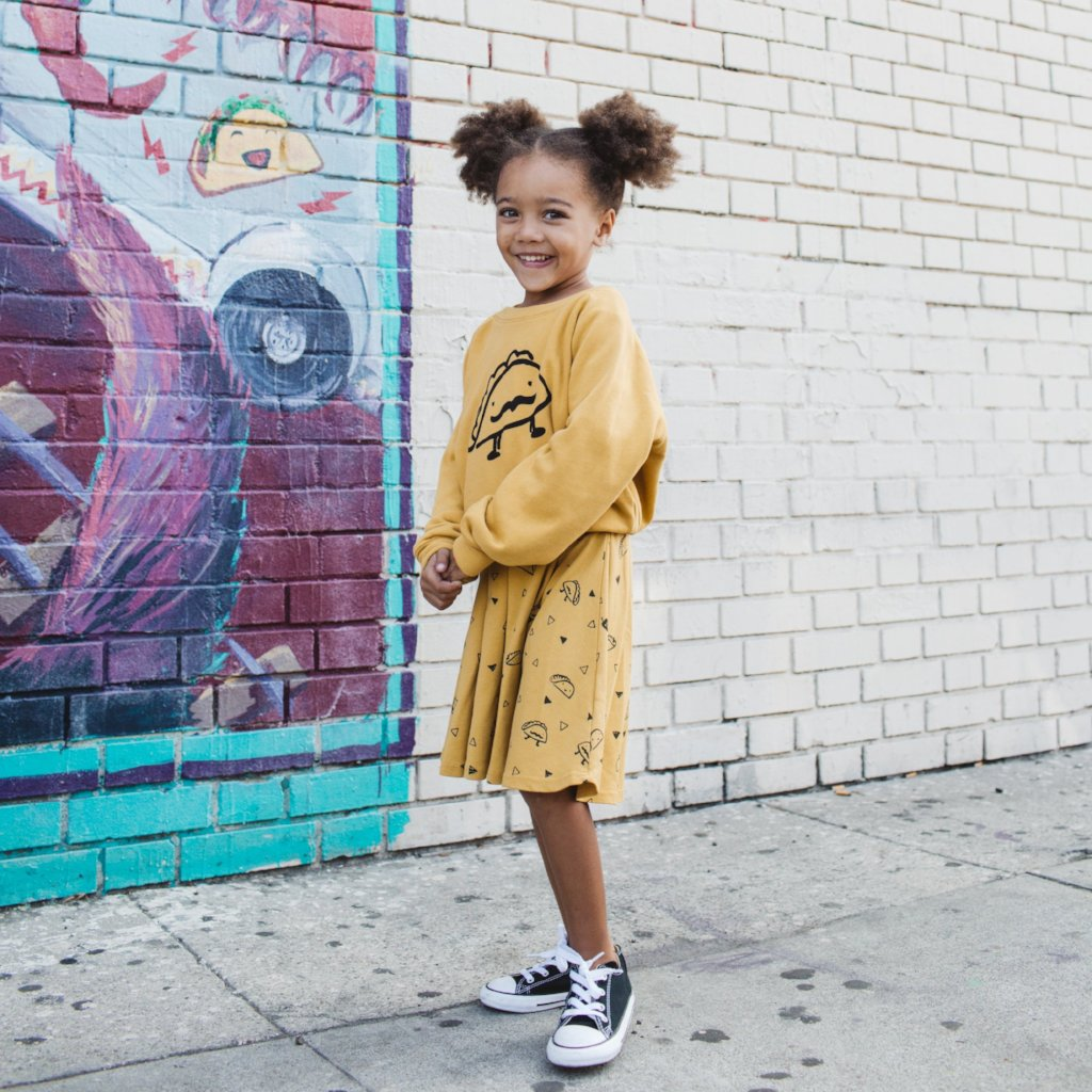 Taco Graphic Raglan Sweatshirt, Golden