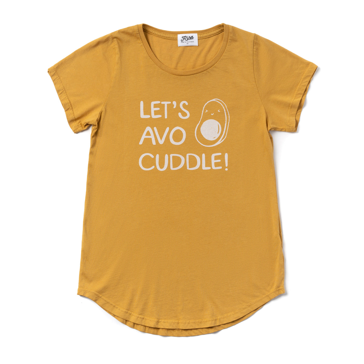 Let's Avo Cuddle Scoop Neck T-shirt, Golden | Women