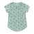 Banana Print Scoop Neck T-shirt, Ocean Mint | Women