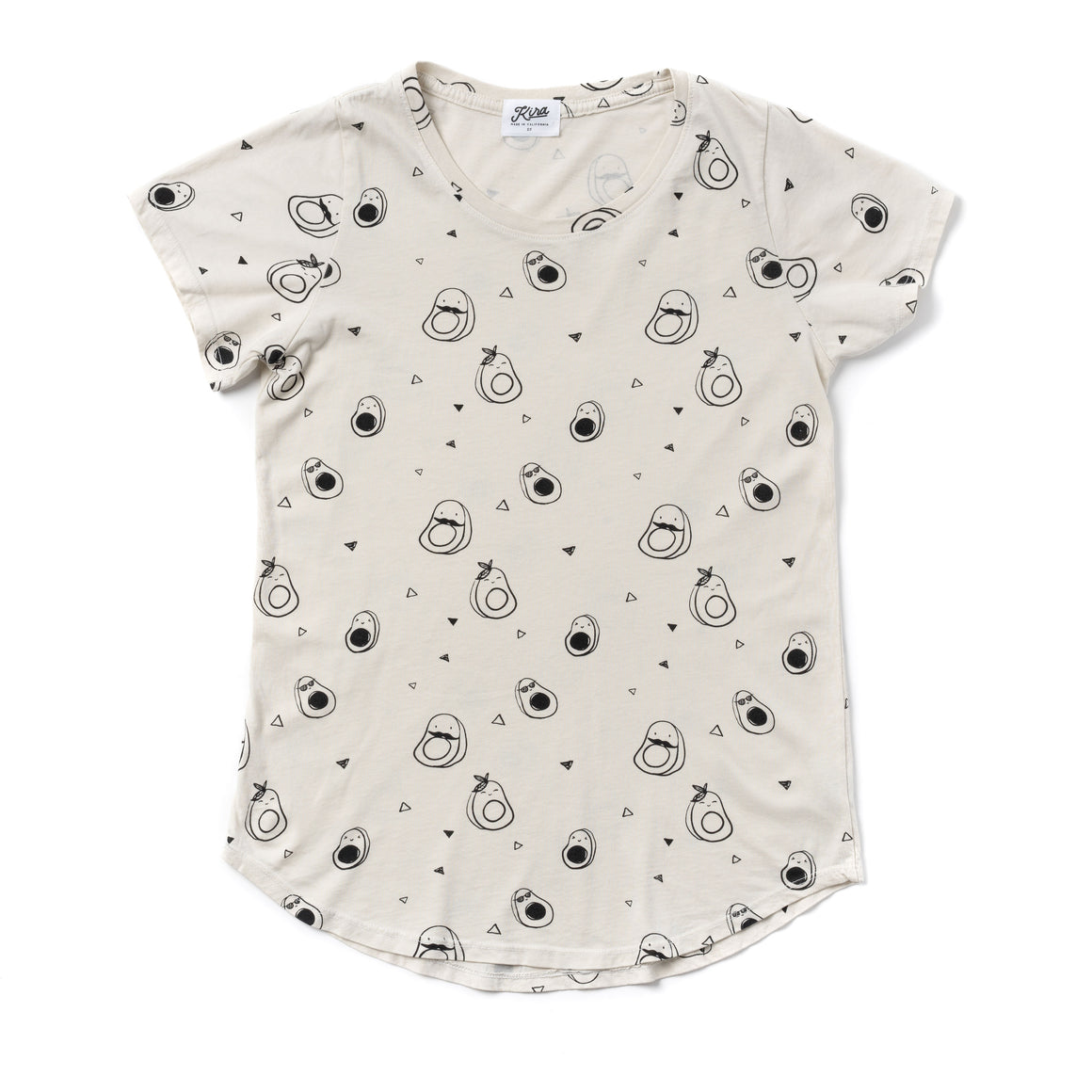 Avocado Print Scoop Neck T-shirt, Natural | Women