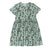 Plants Print Baby Doll Dress, Ocean Mint | Women