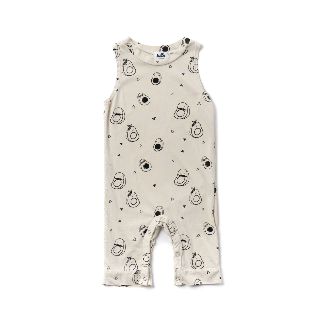 Avocado Print Tank Jumpsuit, Natural