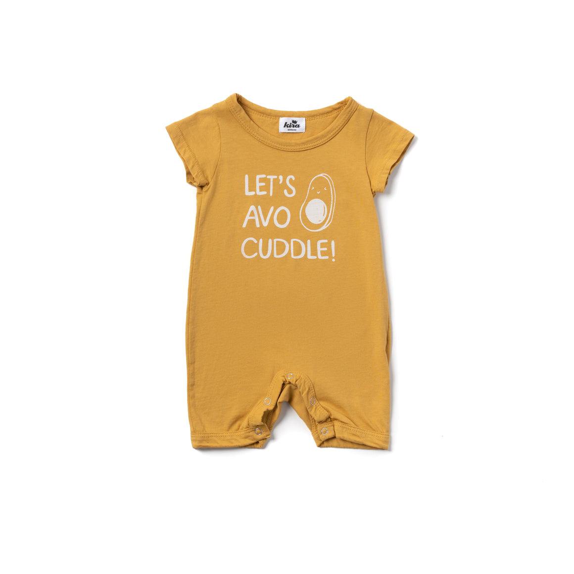 Let's Avo Cuddle Shorts Romper, Golden