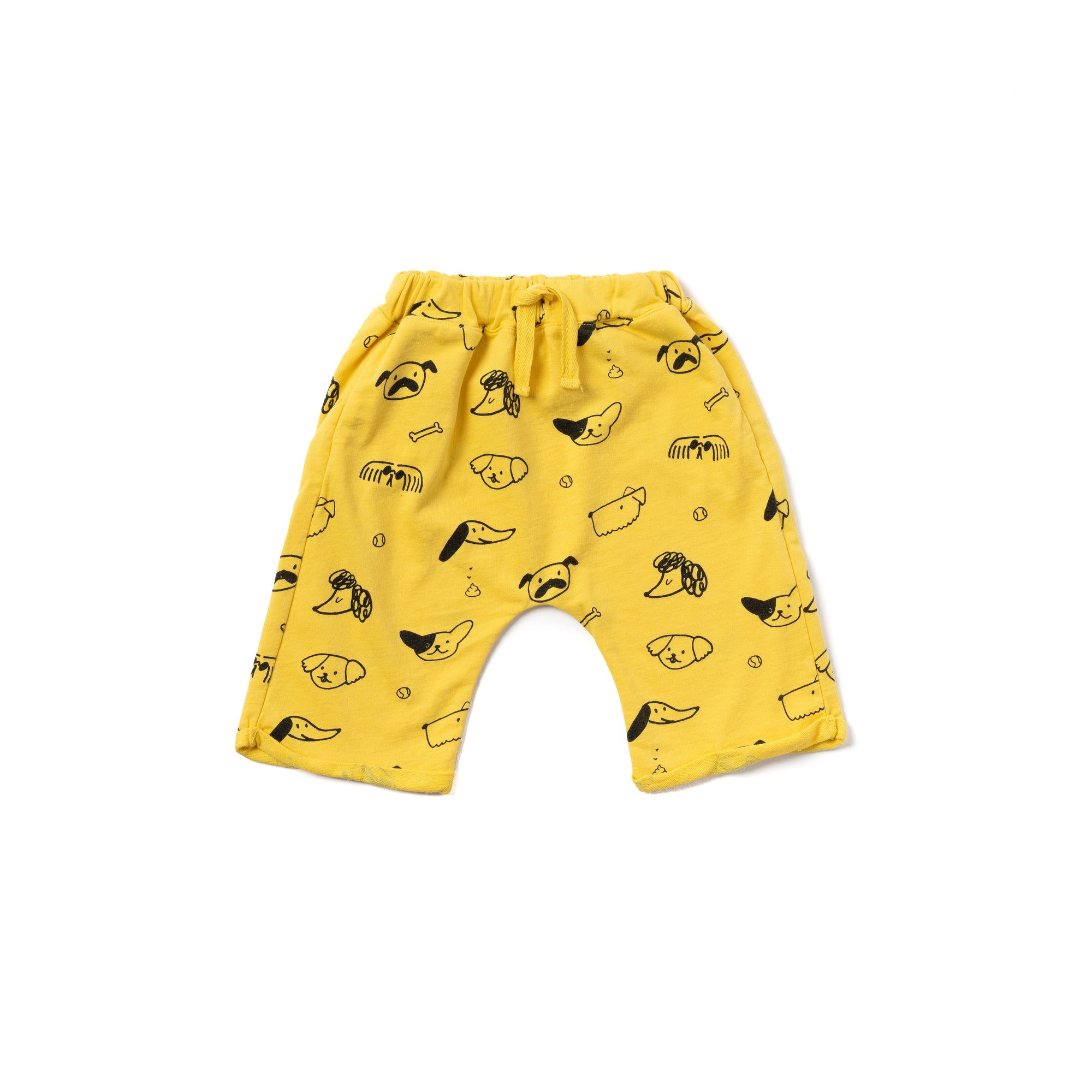 Puppy Print Lounge Shorts, Sunshine