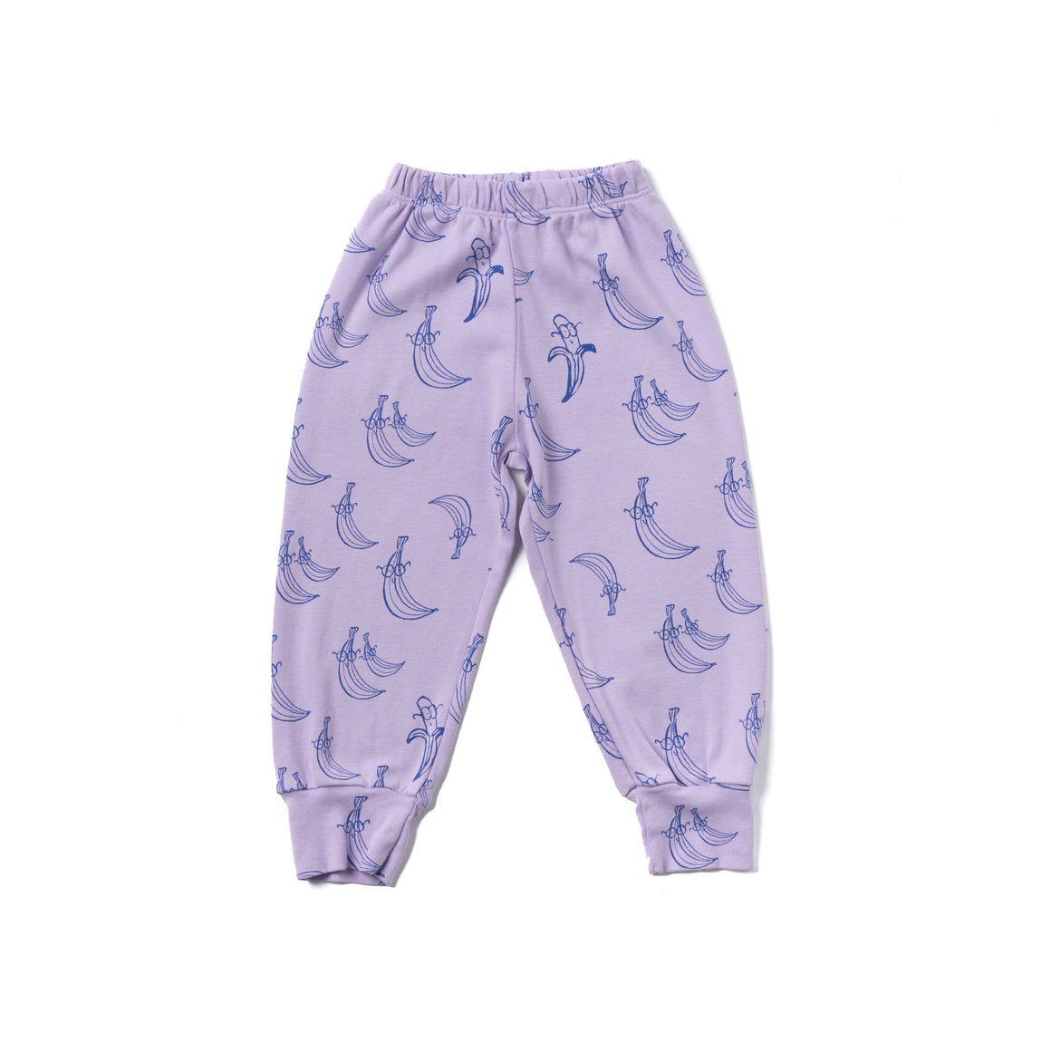 Banana Print Bubble Pants, Pastel Violet