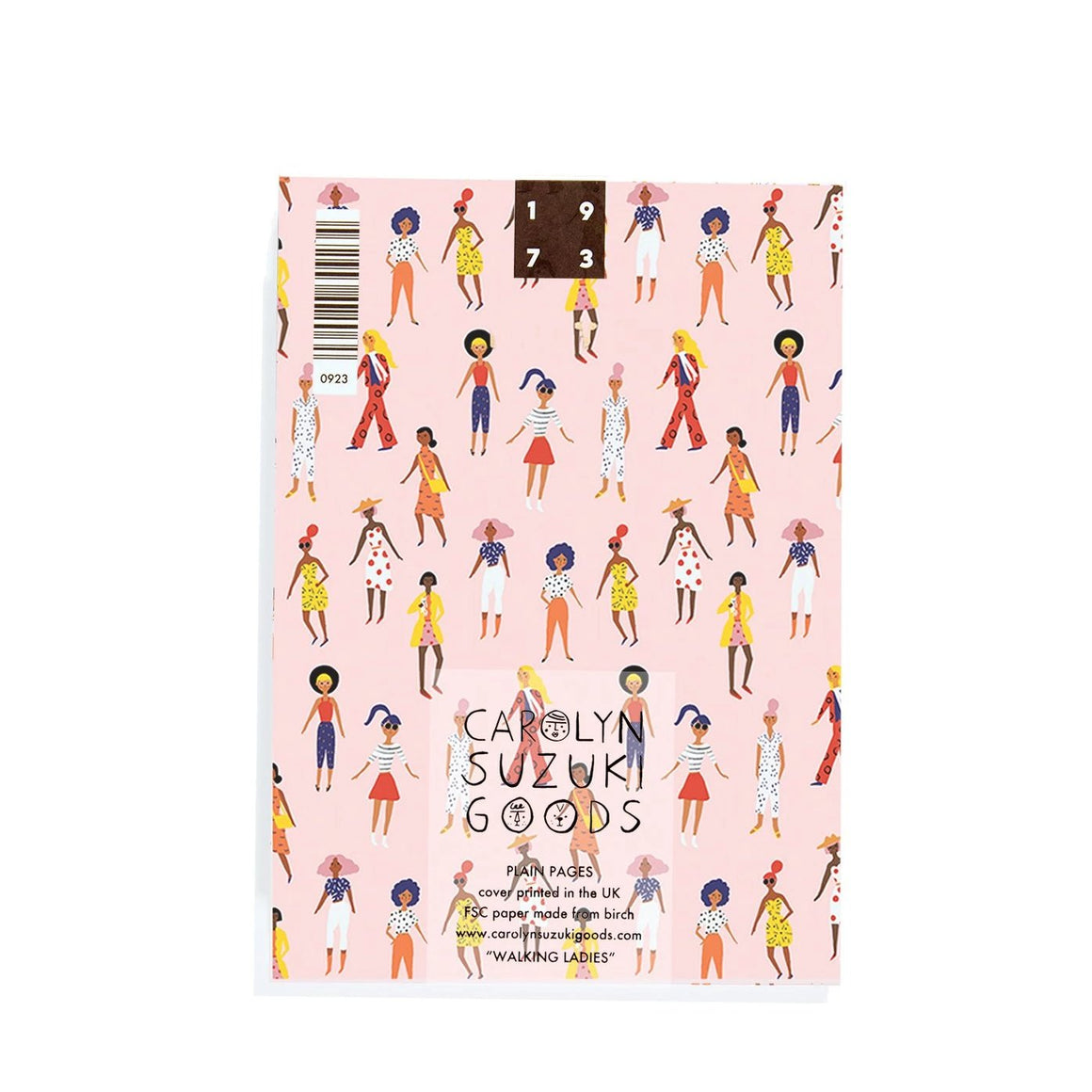 Carolyn Suzuki Goods: Walking Ladies - A6 Notebook