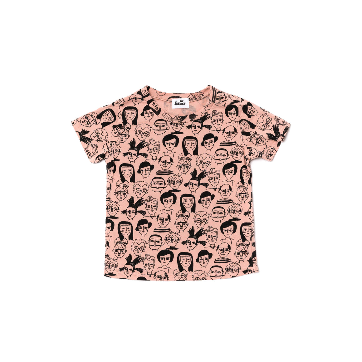 Artists Print Short Sleeve T-shirt, Blush