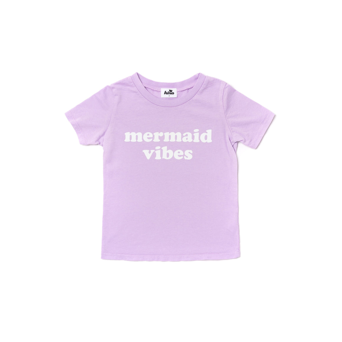 Mermaid Vibes Graphic Short Sleeve T-shirt, Pastel Violet