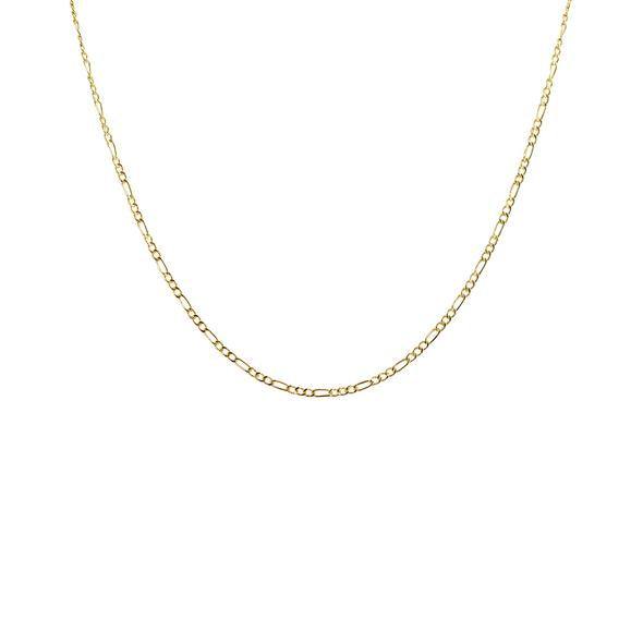 Thesis of Alexandria: Figaro Chain Choker Collar Necklace