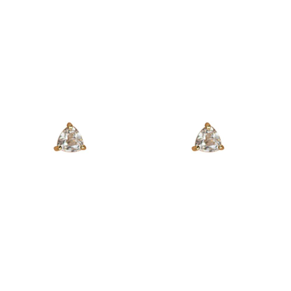 Thesis of Alexandria: 4mm Triangle Clear CZ Prong Studs