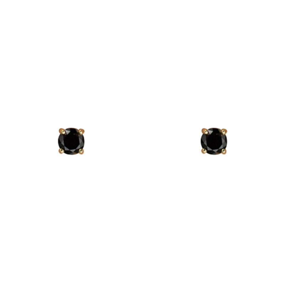 Thesis of Alexandria: 4mm Round Black CZ Prong Studs