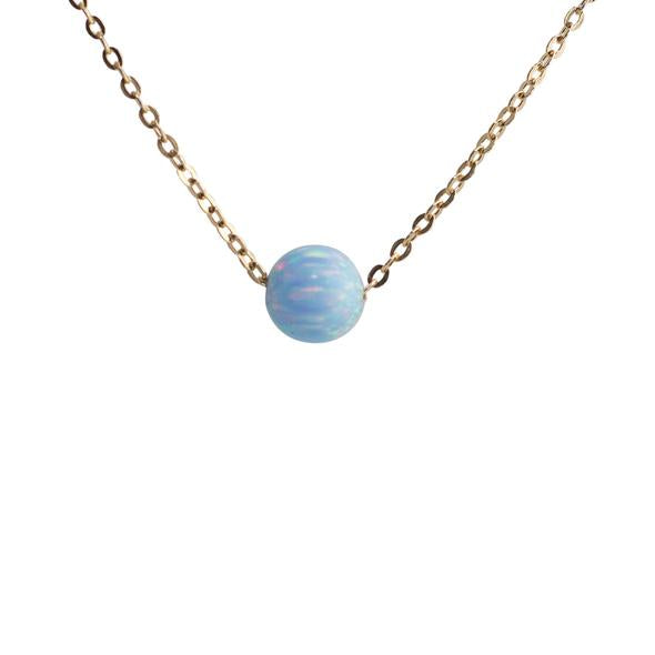 Thesis of Alexandria: Serene Blue Opal Bead Necklace