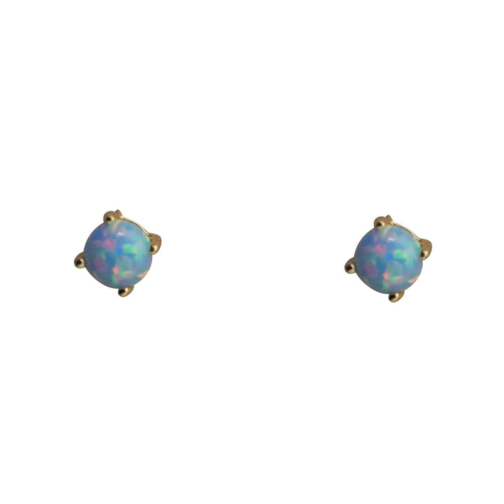 Thesis of Alexandria: Serene Blue Opal Prong Studs