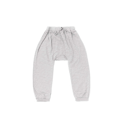 Slub Harem Pants, Light Grey