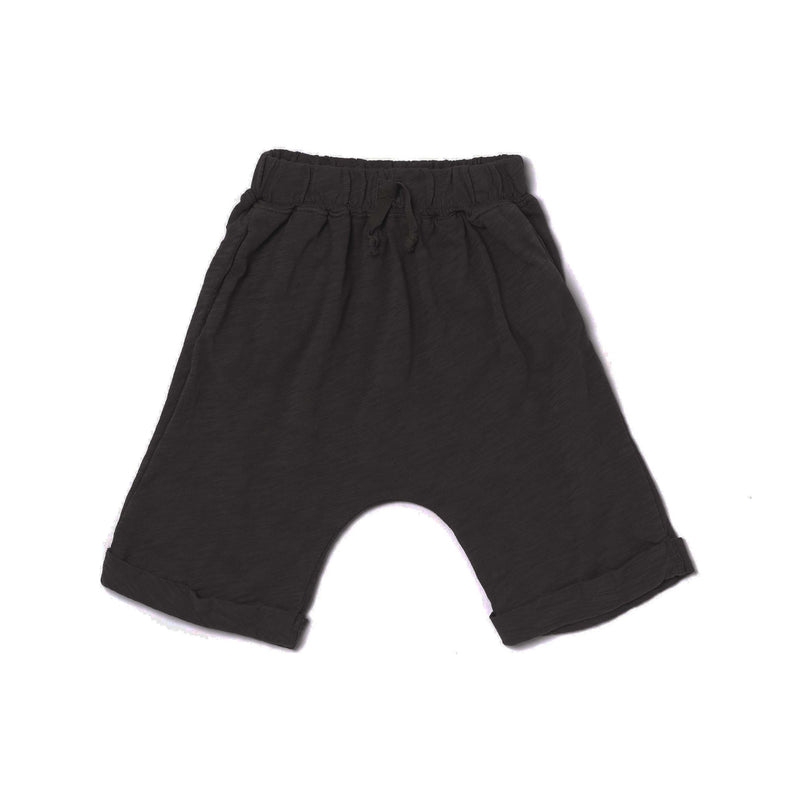 Slub Lounge Shorts, Black