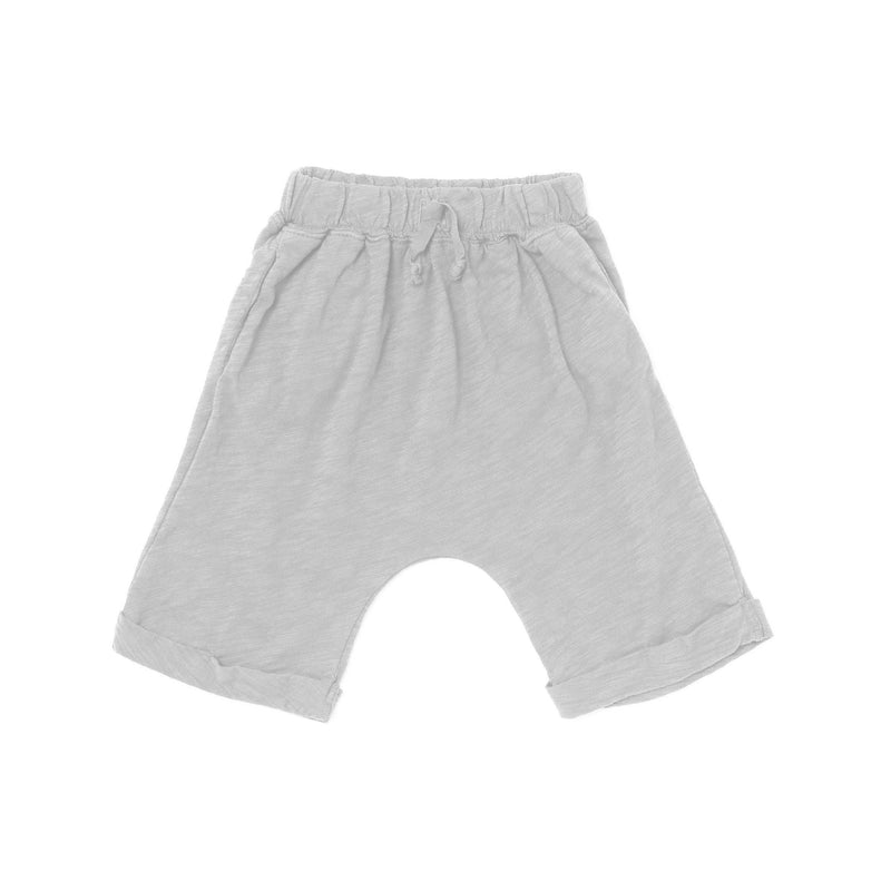Slub Lounge Shorts, Light Grey
